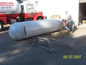 Propane Dispensing Station being Built